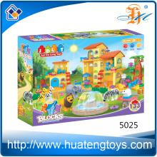 Vente chaude de briques d'animaux et blocs de construction de maisons pour enfants