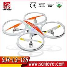 Nuevo arrivalling 2.4GHz 6 ejes Gyro RC Quadcopter Drone w / Camera Outdoor Video Photo Spy 250 pies gama SJY-LS-125