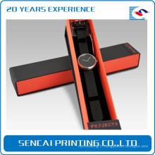 Boîte d'emballage de bracelet de montre de carton de luxe avec des insertions d'emballage de mousse