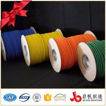 Corde élastique tissée ronde de polyester fort extensible