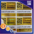 QR Code Series Number Security Barcode Stickers