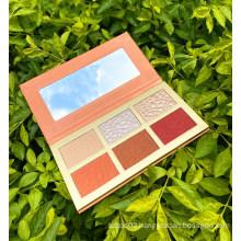 6 Color Highlight Blush Brozer Contour Vendor Reparing Long Lasting Wholesale Bronze Custom Logo