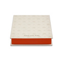Wedding Card Box With White Orange&Golden Lotus Design