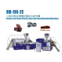 2 Farbe Rotary PVC-Sohle, die Maschine