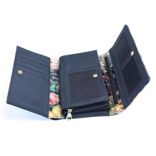 Genuine Split Leather Long Ladies Wallet Purse