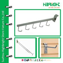 Retail 5 Hook Display Arm for Slatwall