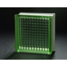 190 * 190 * 80mm Green Parallel Glass Block / Glass Brick