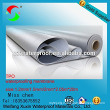 1.2mm green TPO waterproof membrane for roofs
