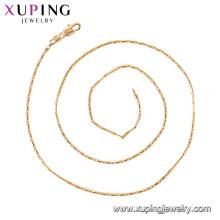 44374 xuping china atacado estilo simples fecho magnético vogue 18 k banhado a ouro chian colar