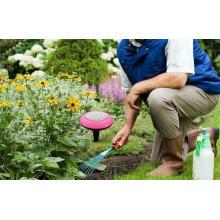 Alto-falante com luz para jardim
