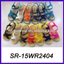 Leichte Sohle pvc Sandalen flache Sandalen neue Designs flache Sandalen
