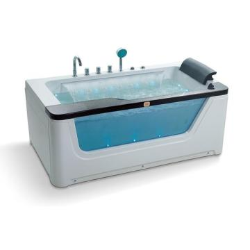 Rectangle Air Bubble Massage Freestanding Bathtub