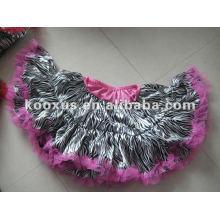 American Zebra pettiskirt with Pink Ruffle