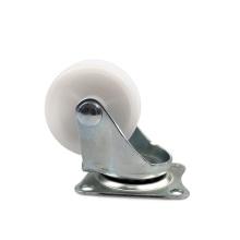1.5 inch light duty flat plate swivel PP casters