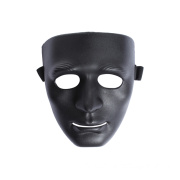 Airsoft Man Face Black Plastic Face Mask