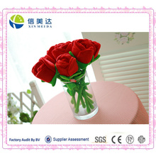 Wholesale Cartoon Plush Roses /The Simulation Toy Flower