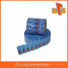 PVC material bottle shrink wrap sleeves with high quality printing in rolls form