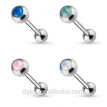 High Quality opalite ball tongue bar 14mm