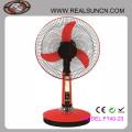 Popular Design Solar Fans 12V DC Table Fan with LED Light
