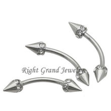 16G Steel Spike multi-gemme à sourcils Barbell