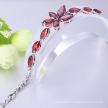 bijoux de mode 2018 noël cadeau grenat fleur et six bracelets zircon femmes rondes