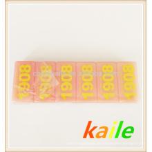 Doble seis fichas amarillas de dominó rosa