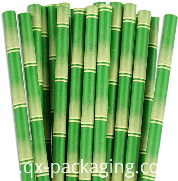 Green And White Straws