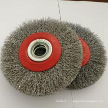 Brosse circulaire à brosse à rouleau en acier de 5 pouces pour broyeur (YY-639)