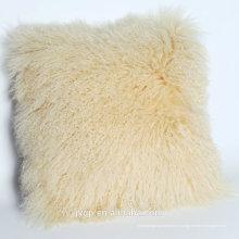 2018 Gros Coussin d'oreiller de fourrure d'agneau mongol