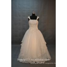 EM STOCK Calças de ombro Vestido de noiva com vestido de baile Vestido de noiva com piso de comprimento SW12