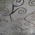 Tejido de hilado de oro impreso