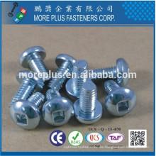 Hecho en Taiwán Acero al carbono C1022 # 2 cuadrados agujero controlador de la cabeza de la cacerola F tipo tornillo de corte de rosca