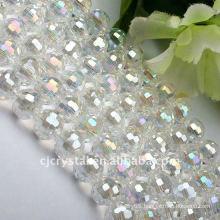 shamballa flat square lampwork glass beads