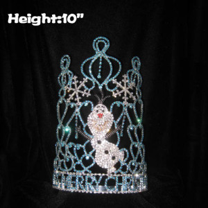 Wholesale Custom Crystal Olaf Christmas Pageant Crowns