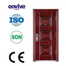 Colores de puerta de hierro y puerta de seguridad de hierro diseño de la puerta