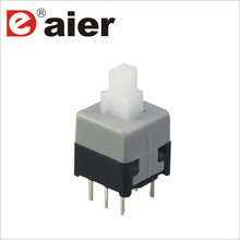 8.5x8.5mm 6pin plastic dpdt small pushbutton switch