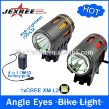 2014 New Design Low beam and driving beam 1500 Lumen 2xCREE XM-L2 T6 LED Lamp Bike light Flashlight