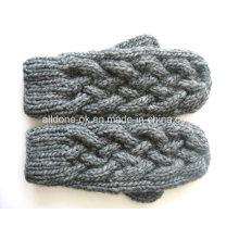 Knitted Ski Gloves, Handmade Knit Mittens, Hand Knit Gloves