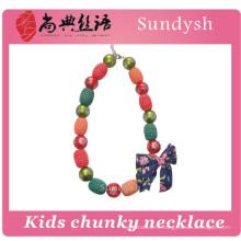 mode mignon initiale chunky perles enfants collier