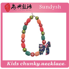fashion cute initial chunky beaded children necklace