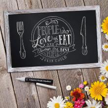 Wood board blackboard eraser kitchen breakfast chalkboard