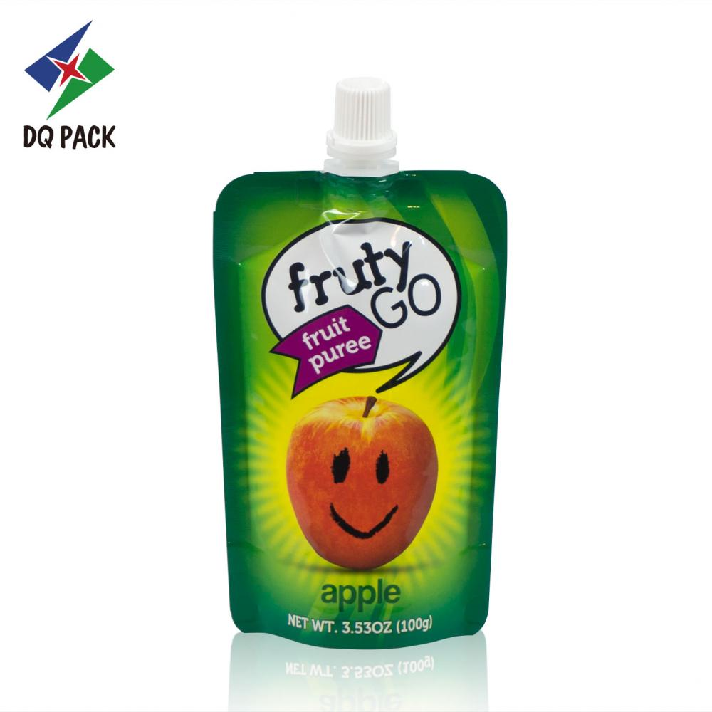 Resealable juice bag with spout