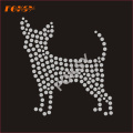 Custom Dog Hot Fix Rhinestone Motif Transfer