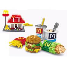 Kinder Spielzeug DIY Block Fastfood Set Spielzeug Block (h03120106)