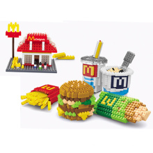 Ensemble de jouets Toy Toy Toy DIY Block Fastfood Set (H03120106)