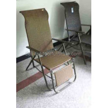 Iron Wicker Indoor Rattan Folding Chair