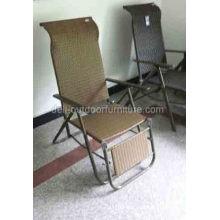 Ferro vime Rattan interior cadeira de dobramento