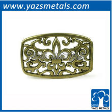 customize hollow out flower belt buckele with design