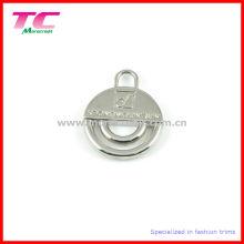 Großhandel glänzende Silber Zipper Abzieher für Tasche