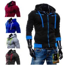 Men′s Stylish Slim Fit Warm Hooded Sweater Jacket